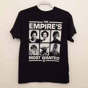 Star Wars Empires Most Wanted Graphic T-SHIRT EUC